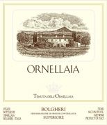 Ornellaia 2014 Bordeaux Red Blend from Tuscany, Italy