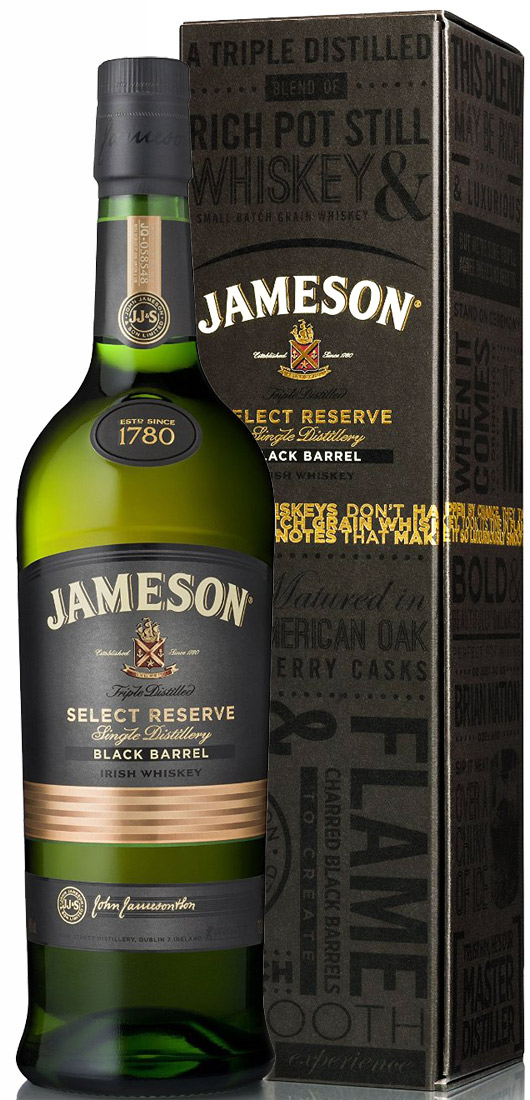Jameson Select Reserve Black Barrel - Small Batch Blended Irish Whiskey, County Cork, Ireland