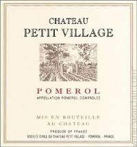 Chateau Petit Village, Pomerol, France 2010