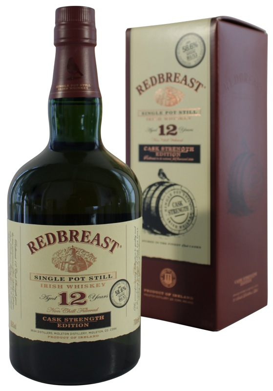 Red Breast Irish Whiskey Cask Strength 12yr -56.2 Proof- 750ml